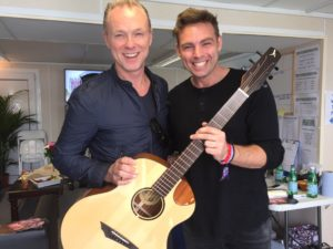 Gary Kemp of British new-wave icons Spandau Ballet with his Songbird